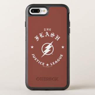 Justice League | The Flash Retro Lightning Emblem OtterBox Symmetry iPhone 8 Plus/7 Plus Case