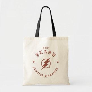 Justice League | The Flash Retro Lightning Emblem Tote Bag