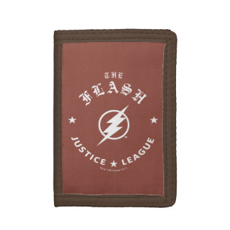 Justice League | The Flash Retro Lightning Emblem Trifold Wallets