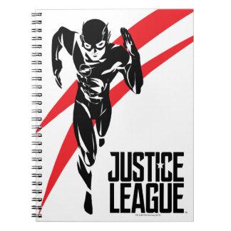 Justice League | The Flash Running Noir Pop Art Notebooks