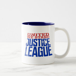 Justice League | United We Stand Graphic Two-Tone Coffee Mug