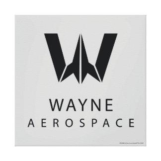 Justice League | Wayne Aerospace Logo Canvas Print