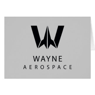 Justice League | Wayne Aerospace Logo Card