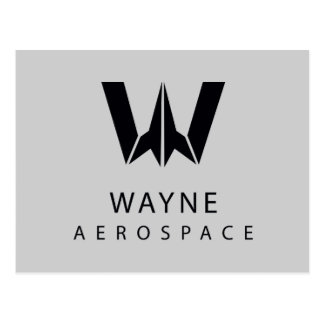 Justice League | Wayne Aerospace Logo Postcard