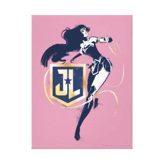 Justice League | Wonder Woman & JL Icon Pop Art Canvas Print