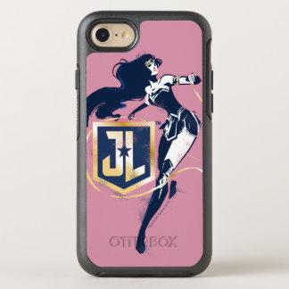 Justice League | Wonder Woman & JL Icon Pop Art OtterBox Symmetry iPhone 8/7 Case