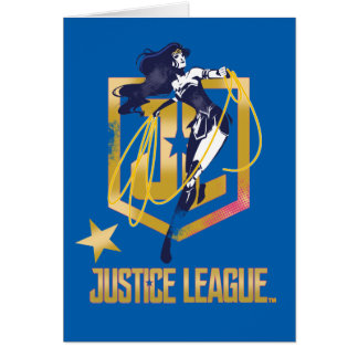 Justice League | Wonder Woman JL Logo Pop Art Card
