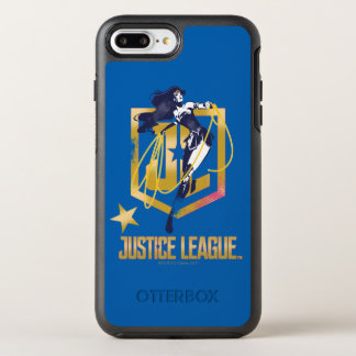 Justice League | Wonder Woman JL Logo Pop Art OtterBox Symmetry iPhone 8 Plus/7 Plus Case