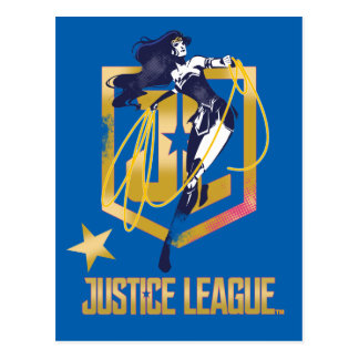 Justice League | Wonder Woman JL Logo Pop Art Postcard