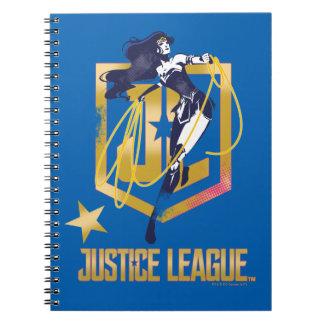 Justice League | Wonder Woman JL Logo Pop Art Spiral Notebook