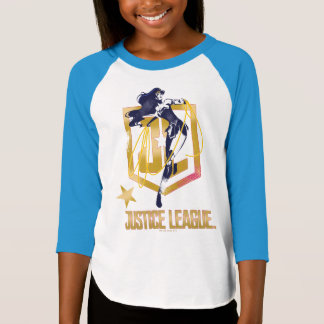 Justice League | Wonder Woman JL Logo Pop Art T-Shirt