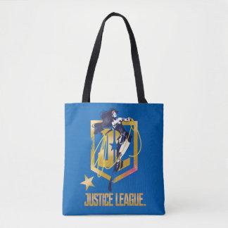 Justice League | Wonder Woman JL Logo Pop Art Tote Bag
