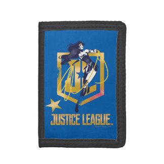 Justice League | Wonder Woman JL Logo Pop Art Trifold Wallets