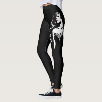 Justice League   Wonder Woman Noir Pop Art Leggings