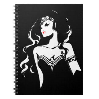 Justice League   Wonder Woman Noir Pop Art Spiral Notebook