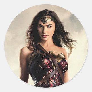 Justice League | Wonder Woman On Battlefield Classic Round Sticker