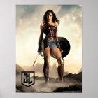 Justice League | Wonder Woman On Battlefield Poster