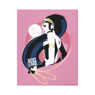 Justice League | Wonder Woman Profile Pop Art Canvas Print