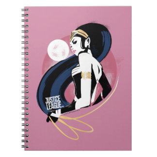 Justice League | Wonder Woman Profile Pop Art Notebook