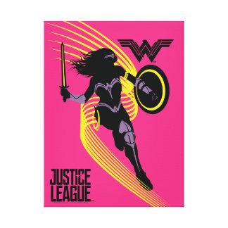 Justice League | Wonder Woman Silhouette Icon Canvas Print