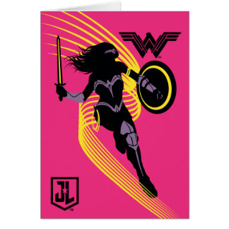 Justice League | Wonder Woman Silhouette Icon Card
