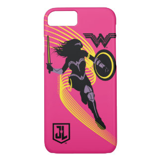 Justice League | Wonder Woman Silhouette Icon iPhone 8/7 Case