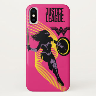 Justice League | Wonder Woman Silhouette Icon iPhone X Case