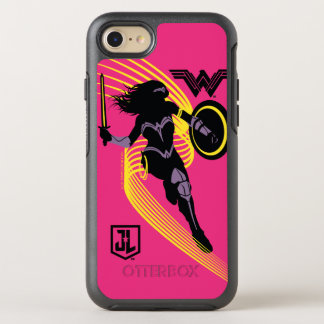 Justice League | Wonder Woman Silhouette Icon OtterBox Symmetry iPhone 8/7 Case