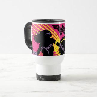 Justice League | Wonder Woman Silhouette Icon Travel Mug