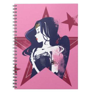 Justice League   Wonder Woman & Stars Pop Art Notebooks