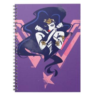 Justice League | Wonder Woman & Symbol Pop Art Notebooks
