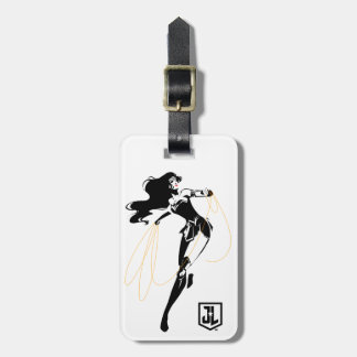 Justice League | Wonder Woman With Lasso Pop Art Luggage Tag