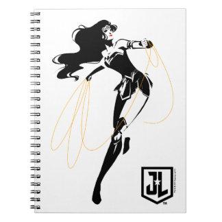 Justice League   Wonder Woman With Lasso Pop Art Notebooks