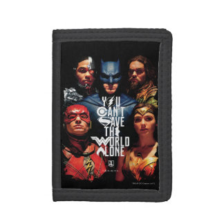 Justice League | You Can't Save The World Alone Trifold Wallet