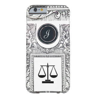 JUSTICE LEGAL OFFICE,ATTORNEY Monogram Black White Barely There iPhone 6 Case