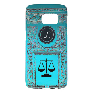JUSTICE LEGAL OFFICE, ATTORNEY Monogram blue