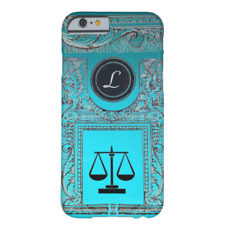 JUSTICE LEGAL OFFICE, ATTORNEY Monogram Teal Blue Barely There iPhone 6 Case