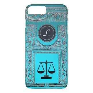 JUSTICE LEGAL OFFICE, ATTORNEY Monogram Teal Blue iPhone 8 Plus/7 Plus Case