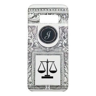 JUSTICE LEGAL OFFICE,ATTORNEY Monogram White Case-Mate Samsung Galaxy S8 Case