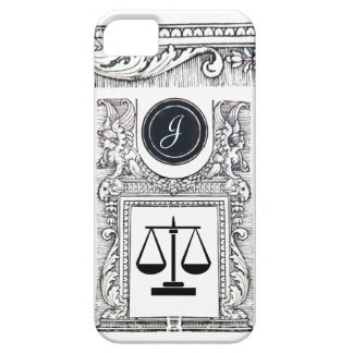 JUSTICE LEGAL OFFICE,ATTORNEY Monogram White iPhone 5 Cases