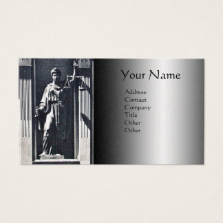JUSTICE LEGAL OFFICE,ATTORNEY Platinum Monogram Business Card