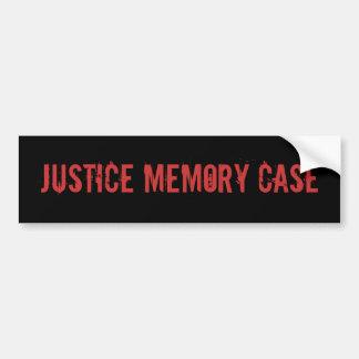 Justice Memory Case Car Bumper Sticker
