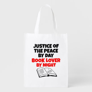 Justice of the Peace Book Lover Reusable Grocery Bag