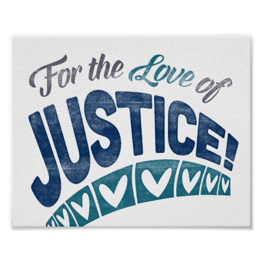 Justice Poster Fun Lawyer Art Law Print