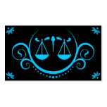 justice scale sophistications pack of standard business cards