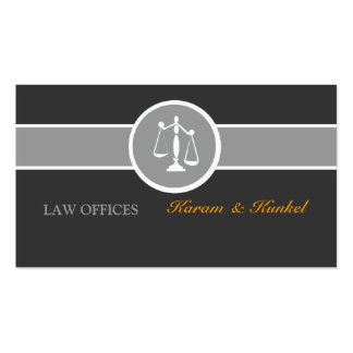 Justice Scales Black White Gray Pack Of Standard Business Cards