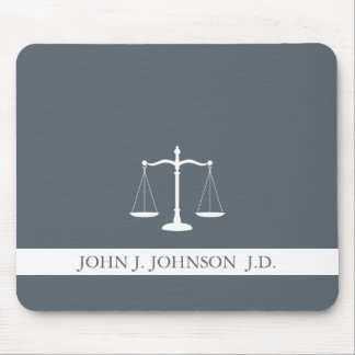 Justice Scales Custom Name Lawyer Slate Grey Mouse Mat