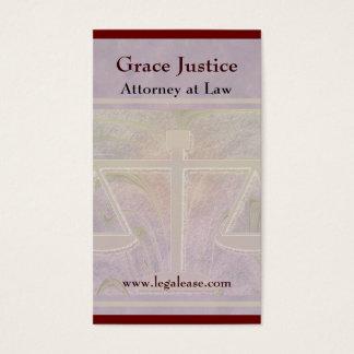 Justice Scales Elegant Purple Business Card