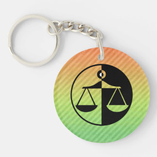 Justice Scales Acrylic Keychains