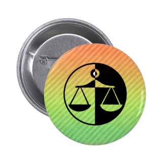 Justice Scales Pinback Button